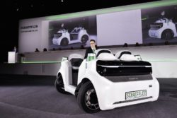 World premiere Schaeffler Mover: The electric vehicle, which is also going to move autonomously, is designed to help ease the growing traffic in metropolitan areas. © 2018 Schaeffler AG